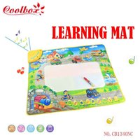 Wholesale Coolbox CB1340NC x65cm big size traffic Music mat with magice pen music mat aquadoodle mat dropping