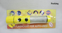 Wholesale in multifunctional emergency kits emergency hammer knife flash torch with AA dry batteries