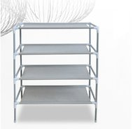 Wholesale 1603 stainless steel Simple combination of magic four layer shoe rack Home Furniture