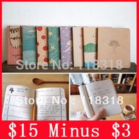 Wholesale minus Styles Korea Stationery Vintage DIY Notebook Diary Paper Notepad Sketch Book