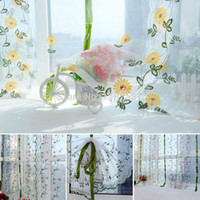 Wholesale ASLT Flower color Tulle Door Window Curtain Living Room Curtains order lt no track