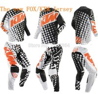 Wholesale New arrival KTM Jersey pants Race Motocross Suit motorcycle jersey moto clothing set Racing Cross country off road T shirts