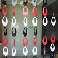 Wholesale Oval Black Red white Circle Decorative sequins glitter door Curtain Fashion Home Decorations