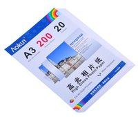 Express Gratis en A3(420*297 mm) 200 g 20 Hojas de Papel Fotográfico de Alto Brillo Impermeable de Papel Papel Fotográfico de inyección de tinta, Para una variedad de impresoras de inyección de tinta