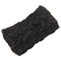 Wholesale 5 colour Handmade Women s Fashion Wool Crochet Headband Knit Hair band Flower Winter Ear Warmer headbands for women D706J