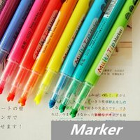 Wholesale 50 Marker Highlighter pen for reading book way Fluorescent pen office accessories Stationary School supplies