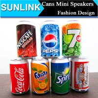 beer sounds - Cola Beer Cans Design Fashion USB Mini Portable Speaker Sound Box With FM Radio With TF Card Slot For Mp3 Mp4 Computer DHL
