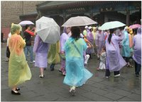 wholesale rain ponchos - One time Raincoat Fashion Hot Disposable PE Raincoats Poncho Rainwear Travel Rain Coat Rain Wear Travel Rain Coat AAA1249 A