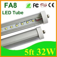 T8 32W SMD 2835 FA8 T8 LED Tube 32W 5ft 1.5M Single Pin Super Bright Cooler Door Fluorescent Light Replacement SMD2835 3200LM Warm Cold Natural White