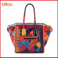 Cheap New 2015 Famous Designers Brands Patchwork Smiley Bag Genuine Leather Handbags Skull Women Messenger Bags Tote