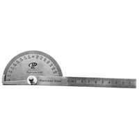 angle measure tool - New Portable Multi Function Stainless Steel Round Head Protractor Angle Ruler Mathematics Measuring Tool