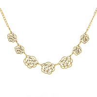 ancient heart - 2016 New Foreign Trade ancient gold flower heart pattern Explosion Models big European and American Fashion Necklace Factory Direct ZY