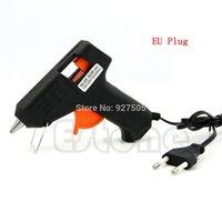 Wholesale C18 EU Plug W Electric Heating Hot Melt Glue Gun Sticks Trigger Art Repair Tool mm Hot Melt Glue Sticks
