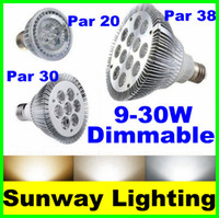 e26 led bulbs - E27 E26 Par20 Par30 Par38 Led light Bulbs W W W W W W V V Dimmable Par Warm Cool White Spotlights