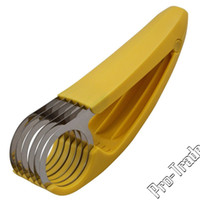 Wholesale Yellow Banana Slicer Banana Slicing Cooking Tool Fruit Slicer Fruit Vegetable Tools Kitchen Accessories