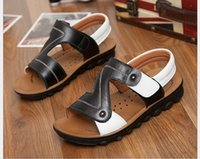 Wholesale 2015 new summer boys shoes genuine leather sandals childrens kids shoes beach sandales footwear size