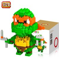 Wholesale Teenage Mutant Ninja Turtles Michelangelo etc Blocks Educational Toys Good Christmas Gift for Kids LOZ