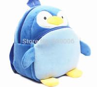 Wholesale 2015 New baby Boys Girls lovely cartoon School bags children Penguin design Mini backpack kids D mochila infantil