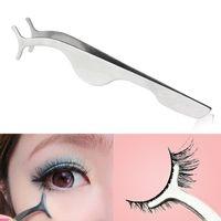 Wholesale New Arrivals Pro Beauty Tool Eyelash Curler False Eyelashes Extension Applicator Remover Clip Tweezer Nipper T184