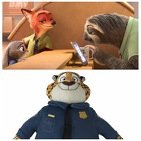 best flash toys - Stuffed Animals Plush Toys The Latest Cartoon Movie Flash Zootopia Leopard Police Clawhauser Cute Soft Doll Best Gifts For Kids Toys