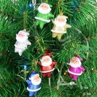 venda por atacado christmas decorative ornaments-Artigos de Natal ornamentos decorativos do presente, ouro Papai Noel widgets de ornamentos Partido Decorações de Natal Papai Noel sale110117 quente