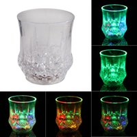 beer halloween gift - 7 Colors LED Flash Light Drink Cup Beer Bar Party Wedding Club Party LED Flashing Light Up Cup as gift