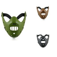 adult halloween crafts - New Silence of the Lambs Hannibal Lecter Film Character Mask Halloween mask cosplay mask Craft Gift colors