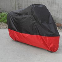 Wholesale NEW Hot Selling XXL Outdoor Protective Motorcycle Motorbike Bike Waterproof Rain Vented Cover Extra Large Black And Red order lt no track