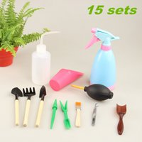 Wholesale 12pcs set Succulents garden tools sets stainless steel shovels watering can rubber blower garden equipments sets