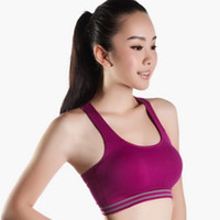 fitness tank tops - Hot Women Sports Tops Quick Drying Seamless Stretch Short Active Padded Bra Top Running Gym Fitness Tank Tops