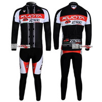Wholesale Winter clothes KUOTA Winter long sleeve cycling jerseys jacket bike bicycle thermal fleeced wear set Plush fabric