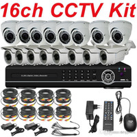 Cheap Best quality top selling 16ch cctv kit whole cctv system install ir sony 700TVL security camera 16ch HD DVR network digital video recorder