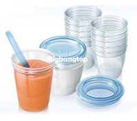 Wholesale 1510 AVENT Cup Via Breast Milk Storage for Avent Breast Pump Avent Baby Feeding Bottle Avent Food Containers ml Pieces Pack