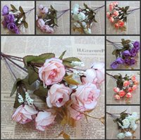 Wedding artificial hibiscus flower - Artificial Silk Hibiscus Flowers Wedding Christmas Party Table Decoration Bouquet Head For One Set Simulation Flowers