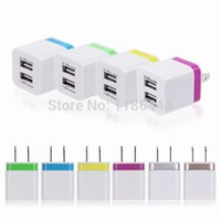 Wholesale Dual USB A A Home Wall Power Charger Adapter For iphone Samsung ipod S3 S4