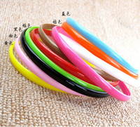 Wholesale Plastic headband Fashion Plain Girl Plastic Hair Band Headband with teeth