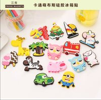 Wholesale 15 styles Despicable me Christmas cartoon Fridge Magnets Creative lovely refrigerator magnet Three dimensional soft rubber fridge magnets
