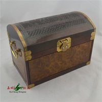 bamboo suitcase - Redwood City Jia Zhang Rosewood inlay gold jewelry box jewelry box carved wooden jewelry box real official suitcases Decoration