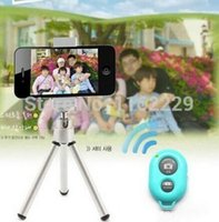 Wholesale DHL Universal Bluetooth Remote Shutter Camera Control Self timer Shutter for iPhone Samsung Nexus Xiaomi Sony IOS and Andriod