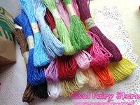 Wholesale Rainbow Raffia Paper String for Gift Wrap Deco DIY Colorful Paper String m bundle m