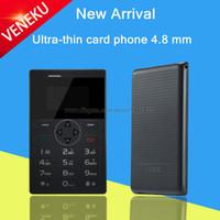 Wholesale 2015 unlocked Italian Arabic Swedish small MP3 FM kids girls mini Ultrathin credit card phone portable cell mobile phone V1 P247