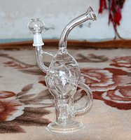 Wholesale W001 new recycler glass bong with bowl and oil rig glass dome glass nail mm