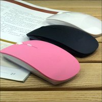 Wholesale New Thin GHz Wireless USB Wheel Optical Mouse PC Laptop Multicolor slim USB interface Optical mouse Free Dropshipping