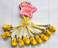 bell making - 60 Pikachu copper made pets dog ring Bell cellphone chains bells with strap fashion accessory Christmas gift
