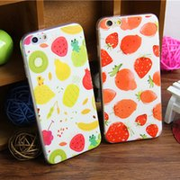 Cheap Cartoon Banana Lemon Ultra-thin Cases Best Soft TPU Silicone Painted Cases