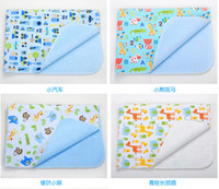 Wholesale bamboo fiber Baby Infants Reusable Durable Washable Waterproof Urine Mat Cover Changing Pad