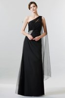 Cheap New Arrival Empire Chiffon One-Shoulder Sweetheart Beaded Ruched Peplum Evening Dresses 2016 Hot Sale Exquisite Draped Beading Floor Length