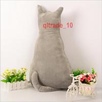 air foam pillow - 100 TOPB5429 cm Cartoon cat Fluffy pillow cushion cat pillows Stuffed dolls Plush Toys Neck Throw Pillow Air Cushions nap Cushions Pillows