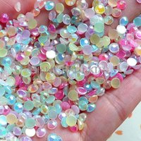 Wholesale 3000pcs Assorted mm Round AB Bubblegum Faceted Acrylic Rhinestones Cabochons Mix candy colors