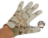Wholesale 2014 NEW tactical sports combat men protect gloves Tactical Airsoft Combat Duty Full Finger Gloves Digi Sand L XL order lt no track